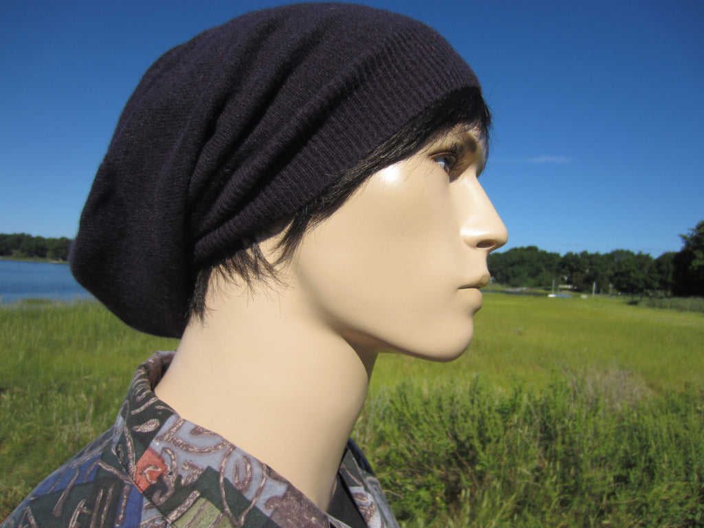 7ae2ce7972e6b1 100% Pure Cashmere Slouchy Tam Beanie Hat. Available in 2 lengths! By  Vacationhouse