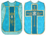 Marian  Chasuble Set Vestment Fiddleback 5 Pcs NEW+Maniple,Stole,Veil,Burse