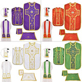 Roman Fiddleback Chasuble Set of 4