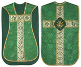 Green  Chasuble Set Vestment Fiddleback 5 Pc NEW+Maniple,Stole,Veil,Burse