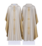 Monastic Chasuble Jerusalem Cross Roll Collar