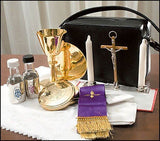 Travel Mass Kit, Includes Chalice, Paten, Pyx, Crucifix and More in Zipped Case