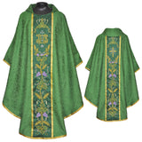 Clergy Embroidered Chasuble Gold Gothic Vestment & Stole