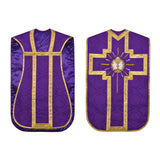 Roman Chasuble Set Vestment Fiddleback 5 Pc NEW+Maniple,Stole,Veil,Burse
