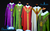 Gothic Vestment Chasuble PAX Velvet Medallion