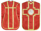Red Agnus Dei Chasuble Set Vestment Fiddleback 5 Pc NEW+Maniple,Stole,Veil,Burse