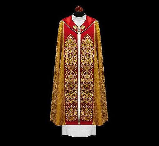 Gold Brocade Cope Made Of Italian Fabrics Vestments For