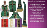 Chasuble Fiddleback PURPLE with Accessories  5pcs
