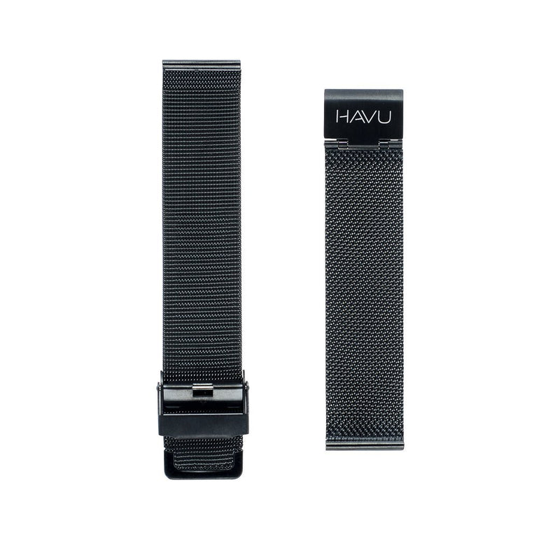Musta metalliranneke (20mm, 22mm) - Havu Watches