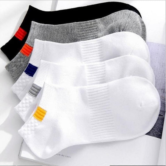 Summer Cotton Man Short Socks Fashion Breathable Man Boat Socks Comfortable Casual Socks Male white hot 10pieces=5pair/lot