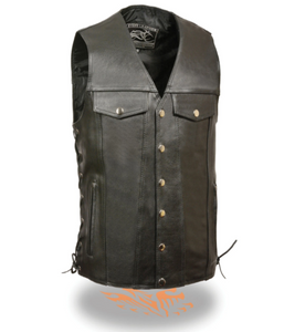 Leather Vest with Denim