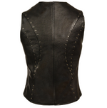 Load image into Gallery viewer, Women Zipper Front Leather Vest