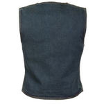 Load image into Gallery viewer, Ladies Zipper Front Denim Vest