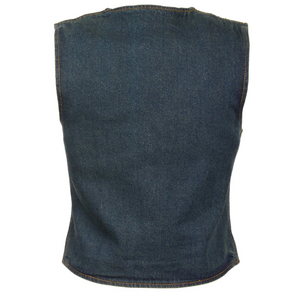 Ladies Zipper Front Denim Vest