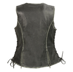 Load image into Gallery viewer, Women's Black Leather Vest