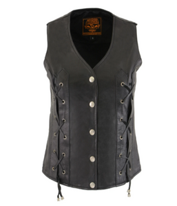 Leather Vest with Front Laces