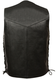 Leather Vest with Pockets