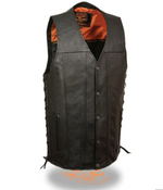 Load image into Gallery viewer, Lace Black Leather Vest