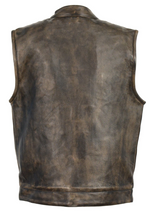 Load image into Gallery viewer, Front Club Leather Vest