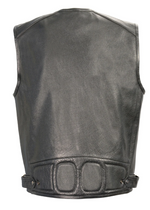Load image into Gallery viewer, Leather  Pocket Vest