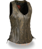 Load image into Gallery viewer, Leather Vest with Pockets
