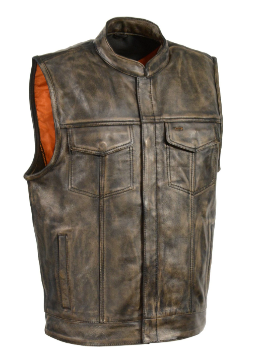 Front Club Leather Vest