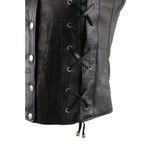 Load image into Gallery viewer, Leather Vest with Front Laces