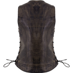 Load image into Gallery viewer, Leather Vest with Side Adjustable Laces