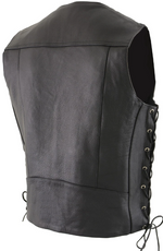 Load image into Gallery viewer, Black Braided Leather Vest