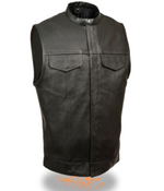 Load image into Gallery viewer, Concealed Black Leather Vest