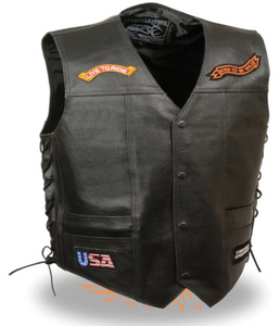 Leather Ride Pre-Patched Vest