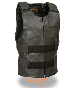 Zipper Leather Vest