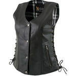 Load image into Gallery viewer, Leather Vest with Snap Button Closure