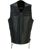 Load image into Gallery viewer, Gaucho Black Leather Vest