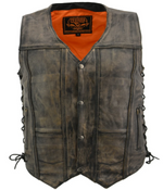 Load image into Gallery viewer, 10 Pocket Leather Vest