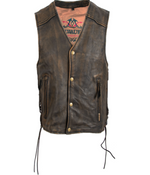 Load image into Gallery viewer, Heritage Brown Leather Vest