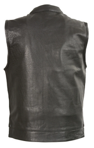 Leather Open Neck Vest