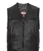 Load image into Gallery viewer, Leather V Neck Vest