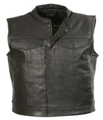 Load image into Gallery viewer, Leather Open Neck Vest