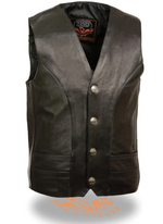 Load image into Gallery viewer, Classic Black Leather Vest