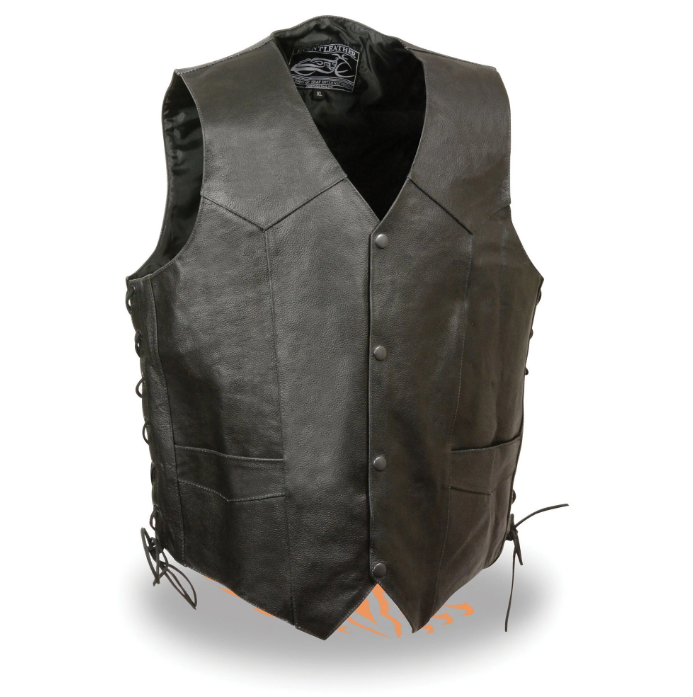 Leather Vest with Side Laces