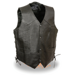 Load image into Gallery viewer, Leather Vest with Side Laces
