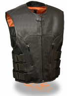 Load image into Gallery viewer, Front Black Leather Vest
