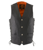 Load image into Gallery viewer, Leather Side Lace Vest