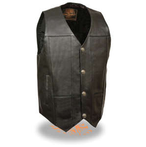 Leather Vest with Buffalo