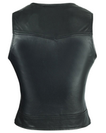Load image into Gallery viewer, Plain Side Black Leather Vest