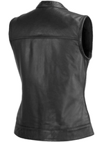 Load image into Gallery viewer, Leather Motorcycle Vest