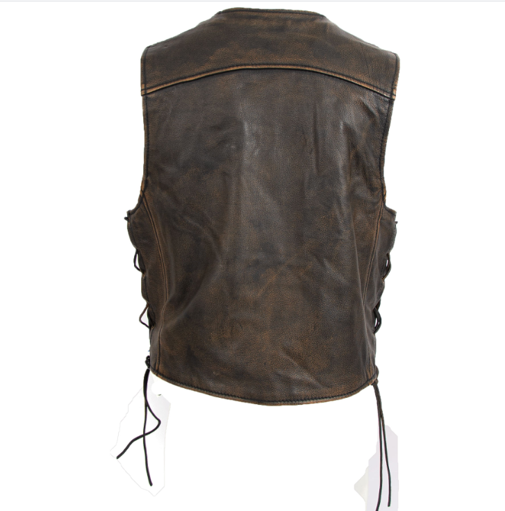 Heritage Brown Leather Vest