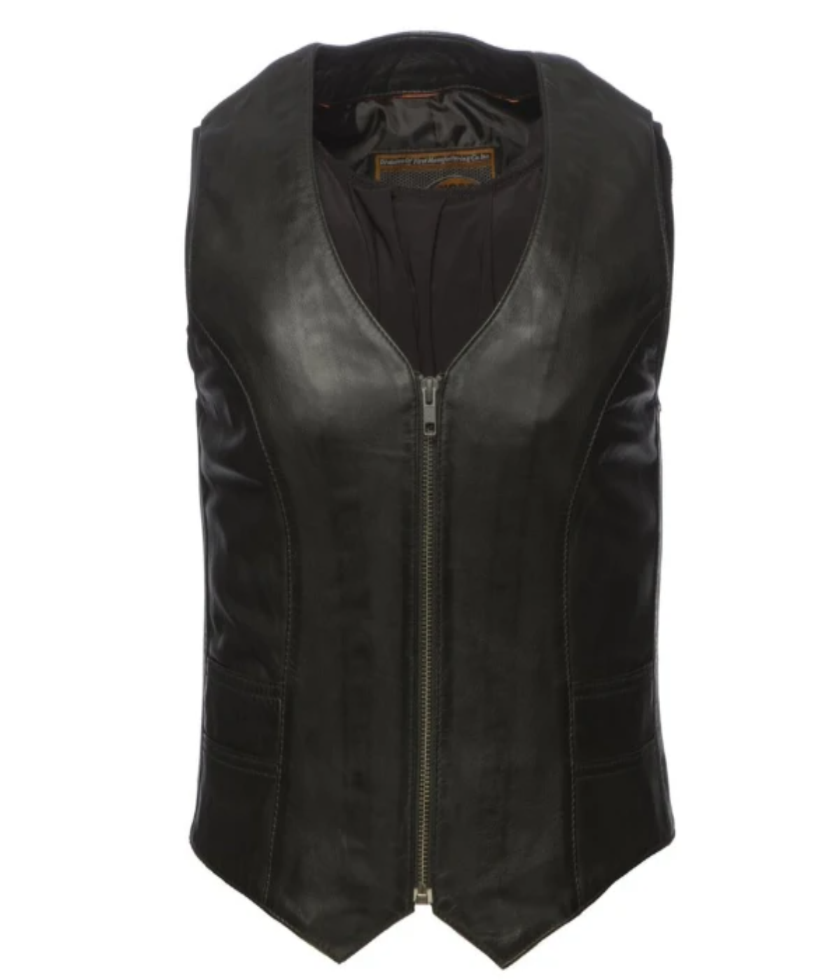 Zip Leather Vest