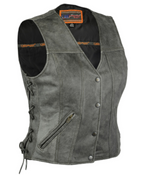Load image into Gallery viewer, Women's Leather Vest